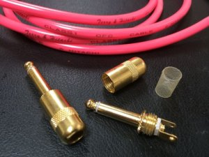画像1: SWITCHCRAFT STRAIGHT PLUG #380 Gold Plating